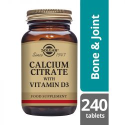 Solgar Calcium Citrate with Vitamin D Tablets 240