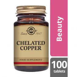 Solgar Chelated Copper 100 Tablets