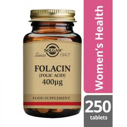 Solgar Folacin (Folic Acid) 400mcg Tablets 250