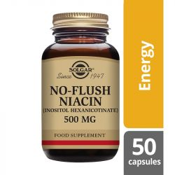 Solgar No-Flush Niacin 500mg Vegicaps 50