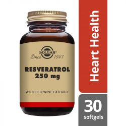 Solgar Resveratrol 250mg Softgels 30