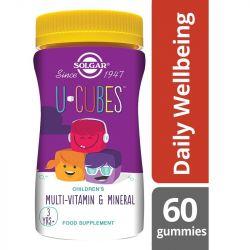 Solgar U-Cubes Children's Multi-Vitamin and Mineral Gummies 60