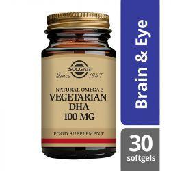 Solgar Vegetarian DHA 100mg Softgels 30