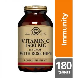 Solgar Vitamin C 1500mg with Rose Hips Tablets 180
