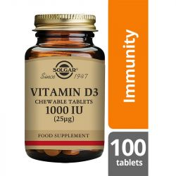 Solgar Vitamin D3 1000iu Chewable Tabs 100