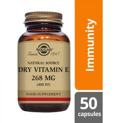 Solgar Vitamin E 268mg (400iu) Dry Vegicaps 50
