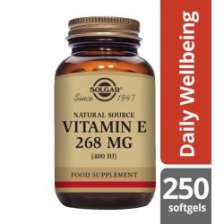 Solgar Vitamin E 268mg (400iu) Softgels 250