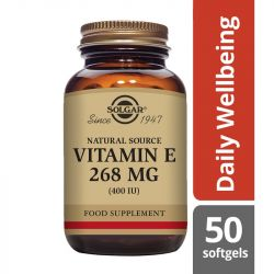 Solgar Vitamin E 268mg (400iu) Mixed Softgels 50