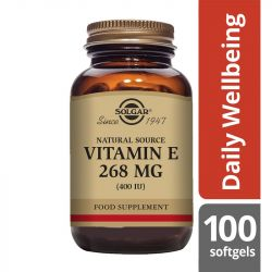 Solgar Vitamin E 268mg (400iu) Vegetarian Softgels 100