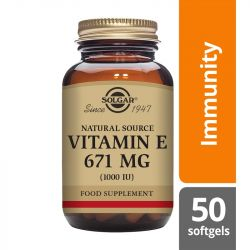 Solgar Vitamin E 671mg (1000iu) Mixed Softgels 50