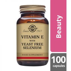 Solgar Vitamin E with Yeast Free Selenium Vegicaps 100