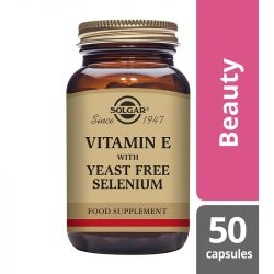 Solgar Vitamin E with Yeast Free Selenium Vegicaps 50