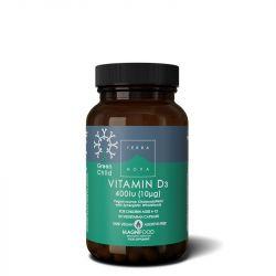 Terranova Green Child Vitamin D3 400iu Vegicaps 50