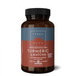 Terranova Turmeric & Matcha Green Tea Vegicaps 100
