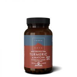 Terranova Turmeric & Matcha Green Tea Vegicaps 50