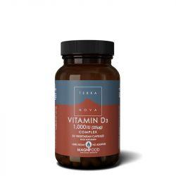 Terranova Vitamin D3 1000iu Complex Vegicaps 50