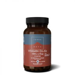 Terranova Vitamin D3 1000iu with K2 100ug Capsules 50