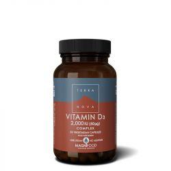 Terranova Vitamin D3 2000iu Complex Vegicaps 50