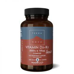 Terranova Vitamin D3 2000iu with K2 100ug Capsules 100