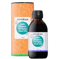 Viridian 100% Organic Pumpkin Seed Oil 200ml