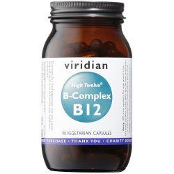 Viridian HIGH TWELVE Vitamin B12 with B-Complex Veg Caps 90