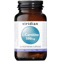 Viridian L-Carnitine 500mg Veg Caps 30