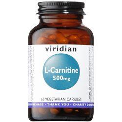 Viridian L-Carnitine 500mg Veg Caps 60