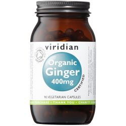 Viridian Organic Ginger Root 400mg Veg Caps 90