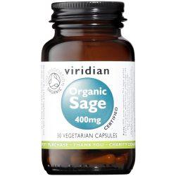 Viridian Organic Sage 400mg Veg Caps 30