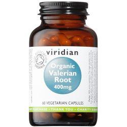 Viridian Organic Valerian Root 400mg Veg Caps 60