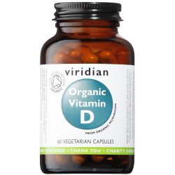 Viridian Organic Vitamin D2 (Vegan) 400iu Veg Caps 60