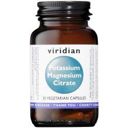 Viridian Potassium Magnesium Citrate Veg Caps 30