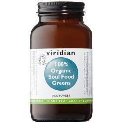 Viridian Soul Food Greens Powder Organic 100g
