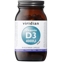 Viridian Vitamin D3 (Vegan) 400iu Veg Caps 90