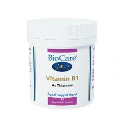 BioCare Vitamin B1 Vegicaps 30