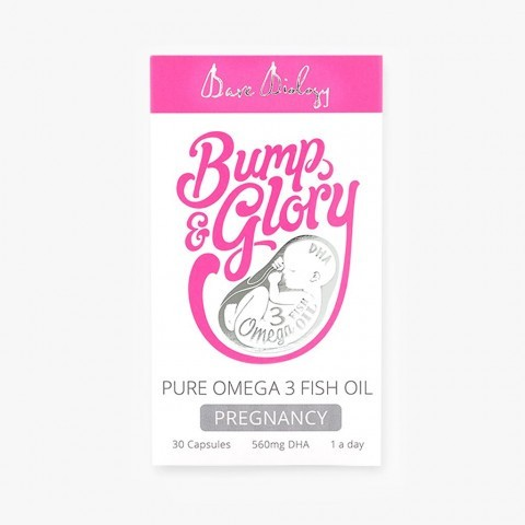 Bare Biology Bump & Glory Pure Omega-3 for Pregnancy Caps 30