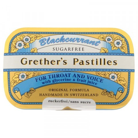 Grether's Blackcurrant Pastilles Sugar Free 110g