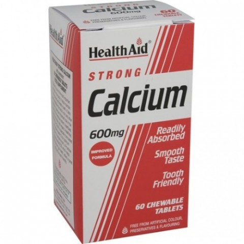 HealthAid Calcium 600mg Chewable Tablets 60