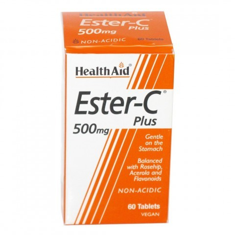 HealthAid Ester C 500mg Plus Tablets 60