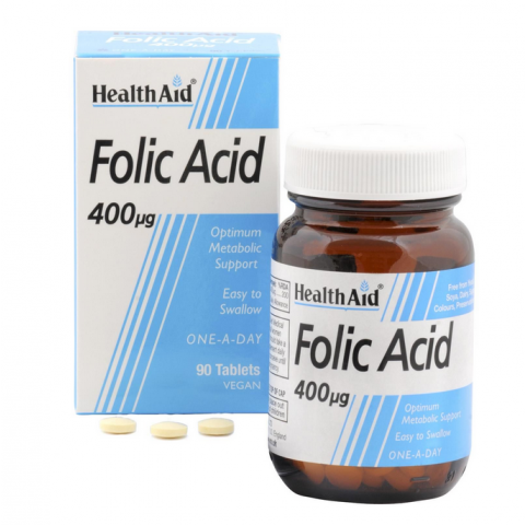 HealthAid Folic Acid 400ug tablets 270