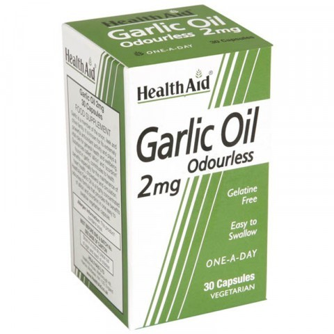 HealthAid Garlic Oil 2mg capsules 30