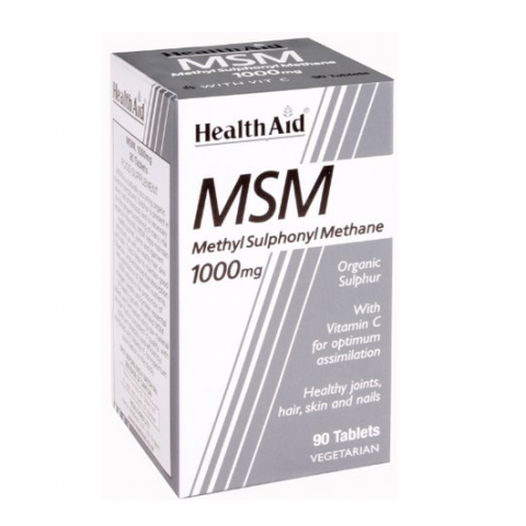 HealthAid MSM 1000mg Tablets 90