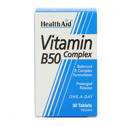 HealthAid Vitamin B50 Complex Prolonged Release Tabs 30