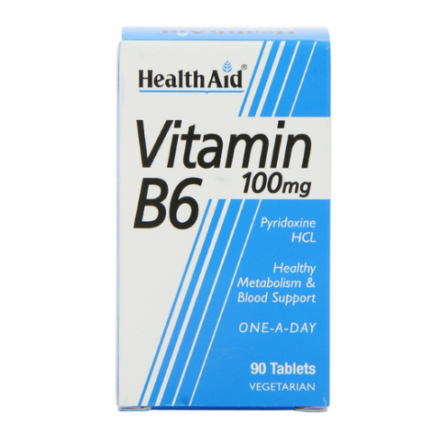 HealthAid Vitamin B6 100mg Tablets 90