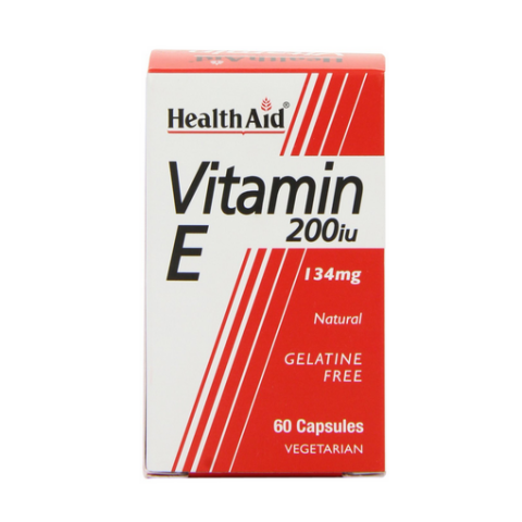 HealthAid Vitamin E 200iu Natural Vegicaps 60