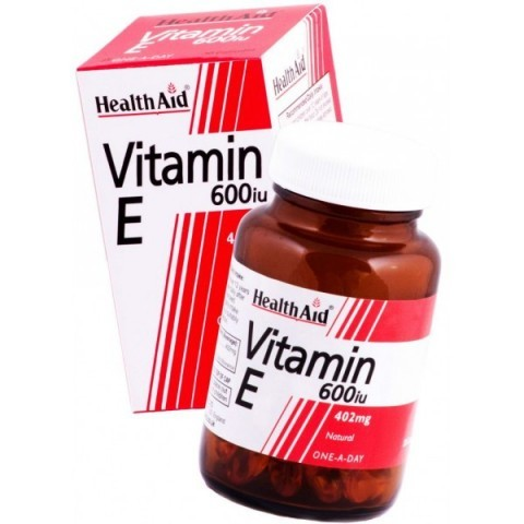 HealthAid Vitamin E 600iu Natural Caps 30