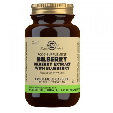 Solgar Bilberry Berry Extract with Blueberry Vegicaps 60