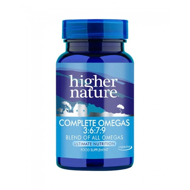Higher Nature Complete Omega 3 6 7 9 Capsules 180 Landys