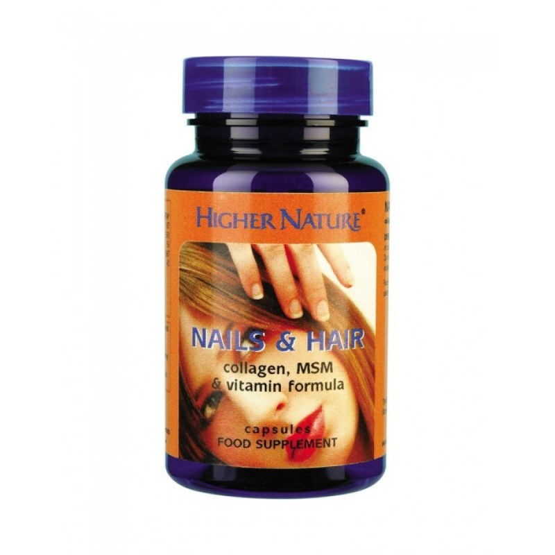 Higher Nature Nails & Hair Vegetable Capsules 120