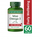 Nature's Bounty Mini Omega-3 450 mg EPA/DHA Softgels 60